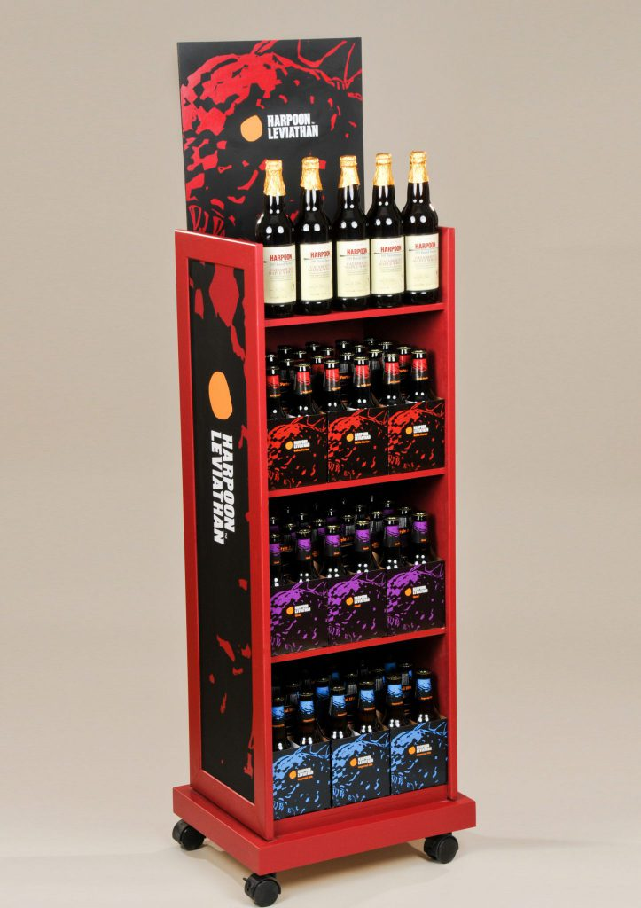 Beverage Display Rack Fully Printed Sides And Header